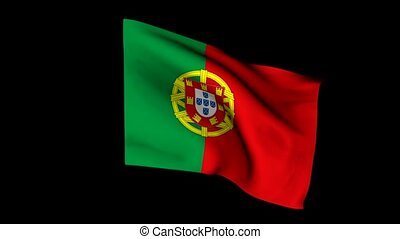 Flag, portugal, wind, cloth, Action, symbol, people,...