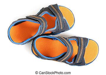 sandálias, criança