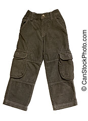 Children trousers isolated on a white background
