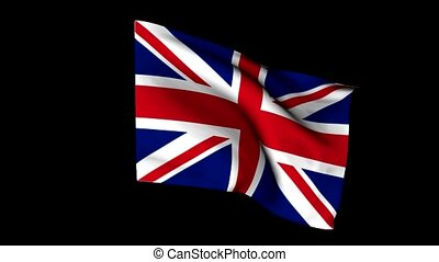 Flag, united kingdom, wind, cloth, Action, symbol, people,...
