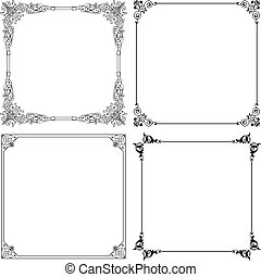 Frames - Decorative frames isolated on white background