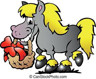 Pony Horse - Hand-drawn Vector illustration of an Pony Horse