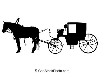 Royal carriage in silhouette royalty free stock vector art - Carriage Stock Illustration Images 17 063 Carriage