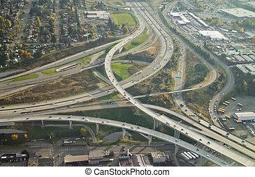 Highway Ending into Larger Highway - SR16 ends at I-5 in...