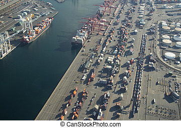 Port of Seattle - Aerial - Aerial View of Harbor Island and...