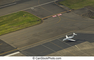 Gulfstream 5 at an Executive Airport - Business jet on ramp...