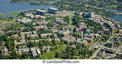University Campus - Aerial - Aerial view of the University...