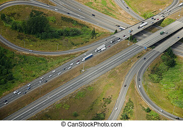 Highway Intersection - Aerial