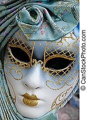 Carnival Mask, Venice - A decorated carnival mask from...