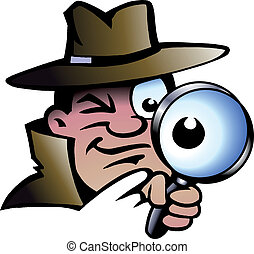 Inspector Detective - Hand-drawn Vector illustration of an...