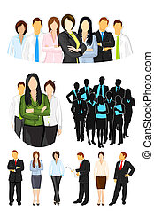 Business People - illustration of set of business people on...