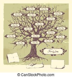 Family tree. - Vector illustration of family tree. Oak...