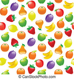 Fruit to background, seamless pattern