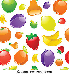 Fruit to background, seamless, wrapping paper