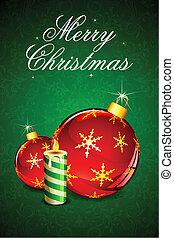 Christmas Ball - illustration of christmas decoration ball...