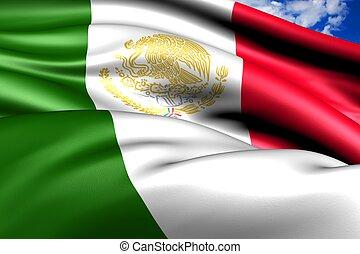 Flag of Mexico. Close up.