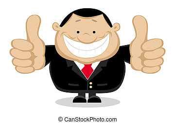 Businessman showing thumbs up Separate layers Vector...