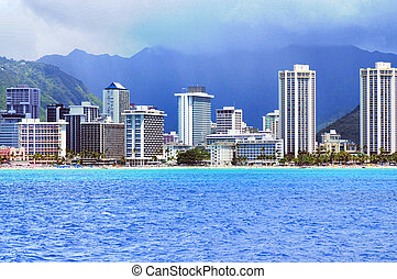 Honolulu Hawaii - The city of Honolulu Hawaii USA