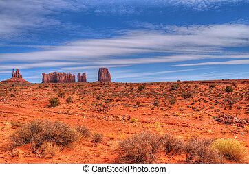 Monument Valley - The beginning of winter at Monument Valley...
