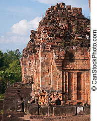 The Pre Rup Temple in Siem Reap, Cambodia - Detail of the...