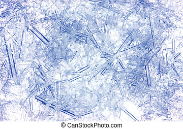 Closeup of ice crystals
