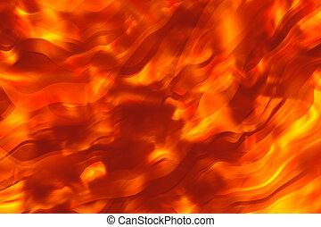 Fiery hot background