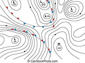 Isobars - Editable vector illustration of a generic weather...