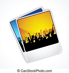 Cheering Crowd - illustration of photograph of cheering...