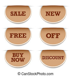 Sale Tag - illustration of different selling tag with text