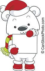 Polar Bear Christmas Board