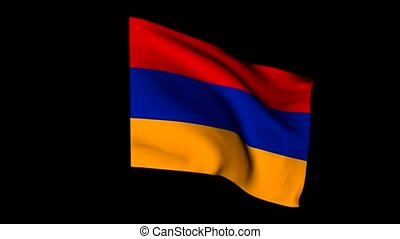 Flag of Europe Armenia - 3D animation of the flag flying