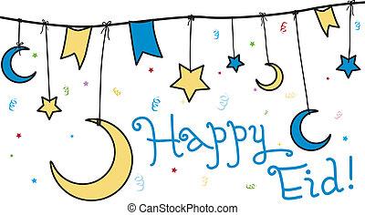 Happy Eid - Illustration Celebrating Eid al-Fitr