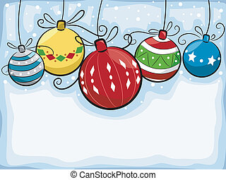 Christmas Balls - Background Illustration Featuring...