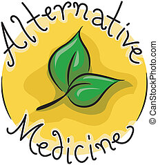 Alternative Medicine - Icon Illustration Representing...