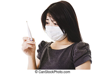 Kvinde, syg, kinesisk