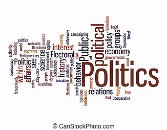 politic word clouds on isolated background