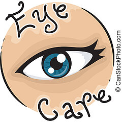 Eye Care - Icon Illustration Representing Eye Care