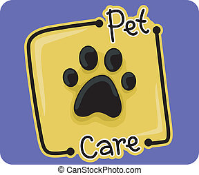 Pet Care - Icon Illustration Representing Pet Care