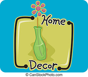 Home Decor - Icon Illustration Representing Home Decor