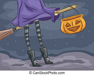 Halloween Background - Background Illustration Featuring a...