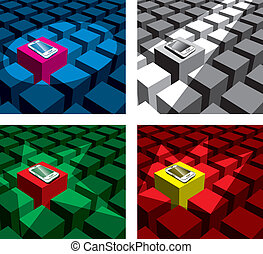 cubes and phones