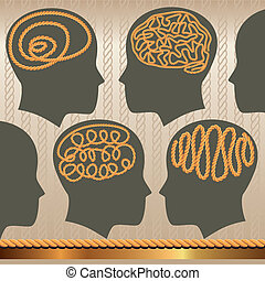 rope of brain - Can be used for brochures, posters,...