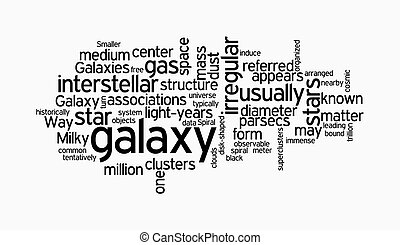 galaxy text clouds