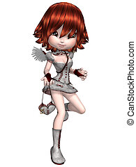 Cupid - 3d render of a cute cupid
