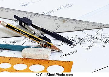 tools on engineering plan
