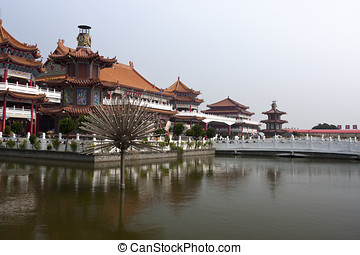 Beautiful ancient temple in the corner of Tainan City