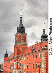 Warszawa - Warsaw, Poland. Old Town - famous Royal Castle....