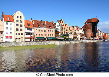 Gdansk - Poland - Gdansk city (also know nas Danzig) in...