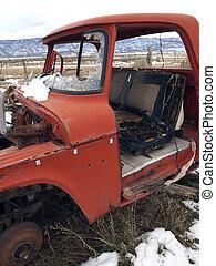 Farm Truck - An old farm truck in an abandoned field.