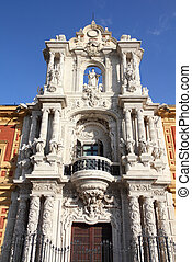 Sevilla, Spain - Palace of Saint Telmo - historical heritage...
